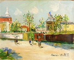 moulin de la galette a montmartre by maurice utrillo