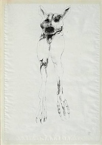 untitled - dog by leonard baskin