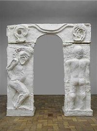 plaster gate i by thomas houseago