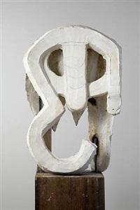 abstract head i by thomas houseago