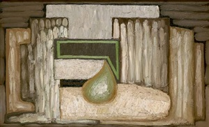 still life with pear n°1 by serge charchoune