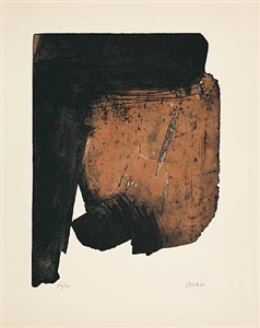 eau-forte xiv by pierre soulages