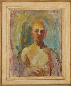 portrait (self portrait with head on verso) by earl cavis kerkam