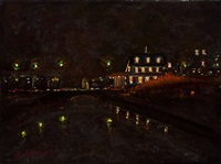 blue night canal by anthony michael autorino