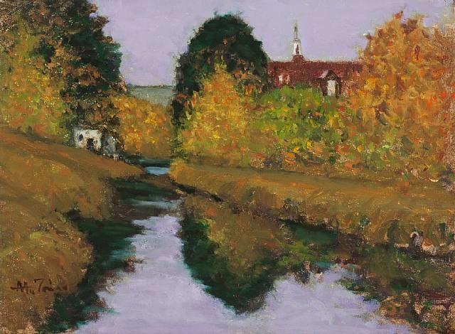 fall canal, lambertville by anthony michael autorino