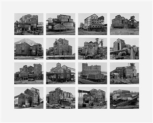 from the series typologies image vi: preparation plants by bernd and hilla becher