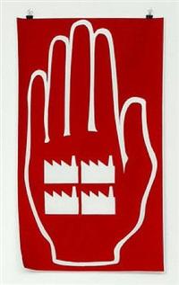 verhandlungen unter zeitdruck (treuhand-hand, rot) by andreas siekmann