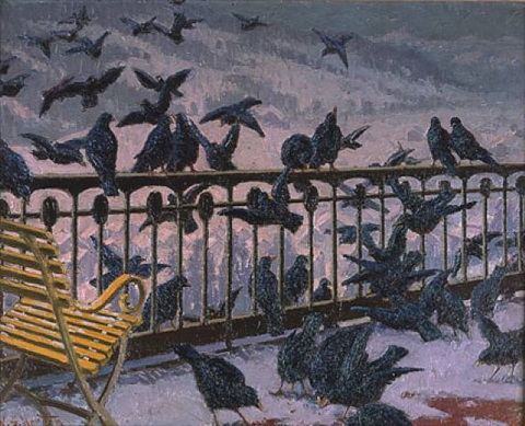 ravens on the balcony by william samuel horton