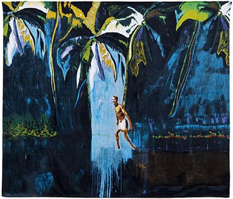 beach/bath towel by peter doig