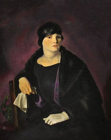 portrait of mrs. walter richter by george wesley bellows