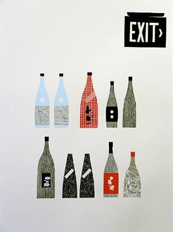 i'm afraid we're going to have to cancel our reservation (exit sign print) by matthew brannon