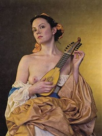 <!--52-->young woman with a mandolin (after tiepolo) by philip haas