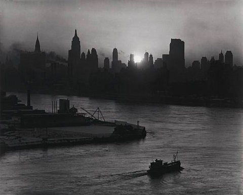 new york from the hudson river by andreas feininger