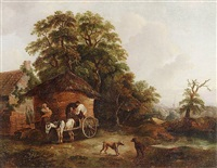 cottage in surrey by george morland