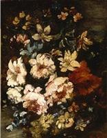 jeté fleurs sur un fond paysager by narcisse virgile diaz de la peña