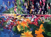ascot finish by leroy neiman