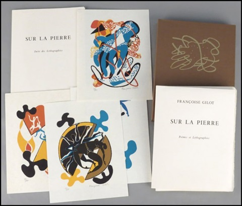 sur la pierre poemes et lithographies suite des lithographies 12 works by françoise gilot