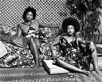 a moment's pleasure in black and white by mickalene thomas