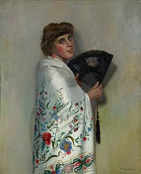 le châle blanc by félix edouard vallotton