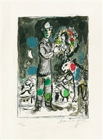 paysan au bouquet by marc chagall