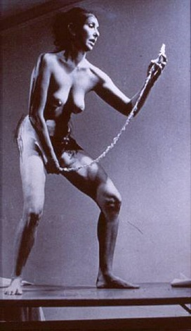 interior scroll by carolee schneemann