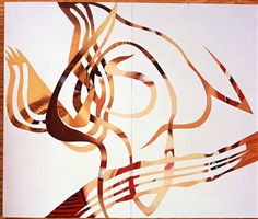 skins stretched across a non-objective ground by james rosenquist