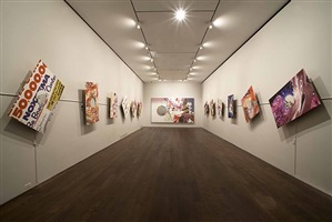 installation view of works from