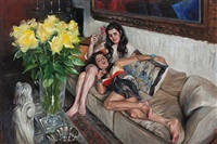 freaky fridas (yellow roses) by delia brown