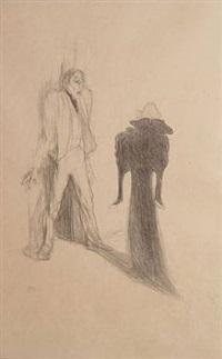 lugene-poe et berthe bady, dans image by henri de toulouse-lautrec