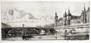 le pont au change by charles meryon