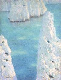 quatuor de calanques : matin or les calanques (rocky inlet) by lucien lévy-dhurmer