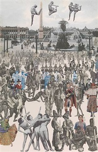 dancing, place de la concorde by peter blake