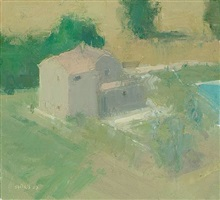 beyond the town house with swimming pool, by stuart shils