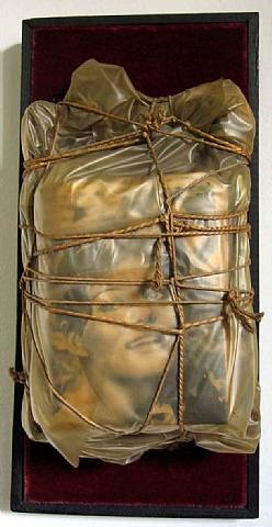 wrapped magazine (claudia cardinale) by christo and jeanne-claude