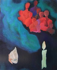 candle blowing by cristina melotti