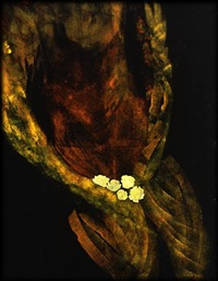 figure with flowers by cristina melotti