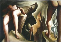 post surreal configuration: eternal recurrence by lorser feitelson