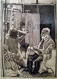 matisse drawing a nude by red grooms