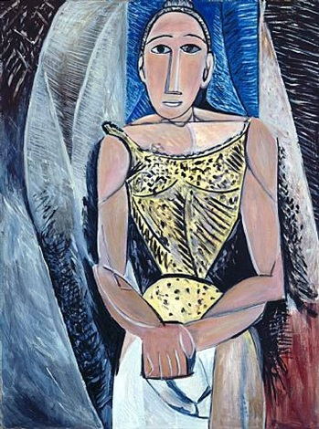 not picasso (woman in yellow, 1907) by mike bidlo