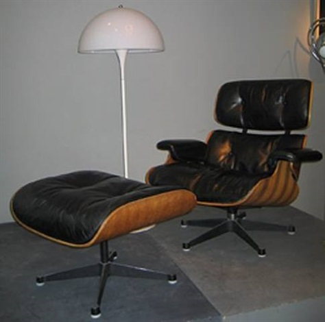 lounge chair et son ottoman by charles and ray eames