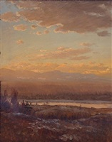 the hudson river from olana by lockwood de forest