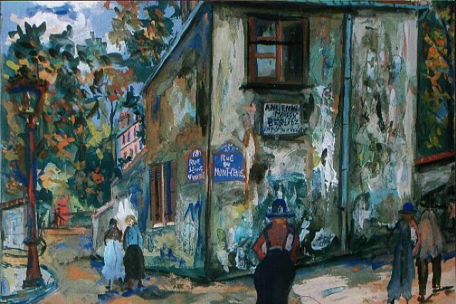 paris, montmartre, rue du mont-cenis, l'ancienne maison de berlioz by maurice utrillo