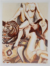 two nude women by philip pearlstein