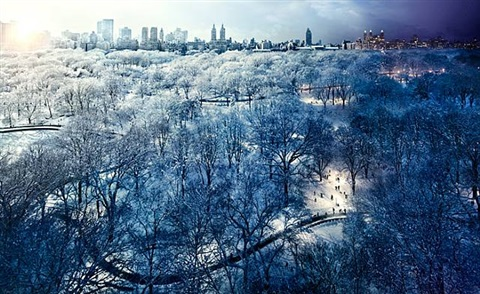central park, day into night, new york by stephen wilkes