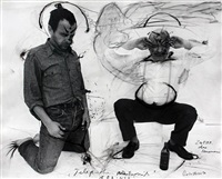 zwei eier ohne steuermann by arnulf rainer and dieter roth