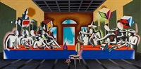 the last supper by mark kostabi