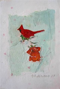 untitled (cardinal rose) by joe brainard