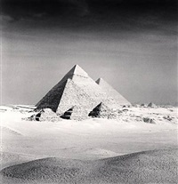 giza pyramid, study 6, cairo by michael kenna
