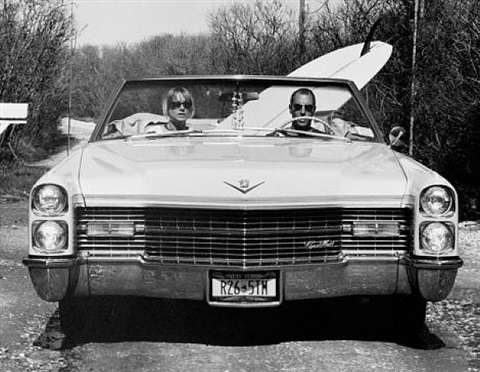 dave and pam in their caddy by michael dweck