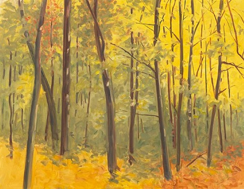 yellow woods by robert berlind